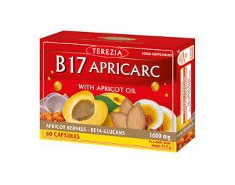 Vitamin B17 Apricarc iz mareličnih jedrc + reiši in ostrigar – 60 kapsul
