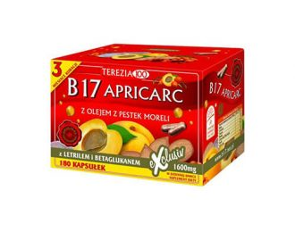 Vitamin B17 Apricarc iz mareličnih jedrc + reiši in ostrigar – 180 kapsul