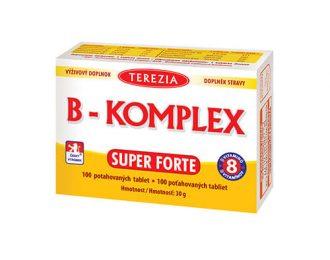 B-komplex super forte, B1, B2, B3, B5, B6, B7, B9 in B12