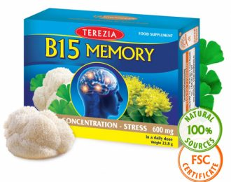 Vitamin B15 Memory s kurkumo, brahmi, rožnim korenom, ginkom