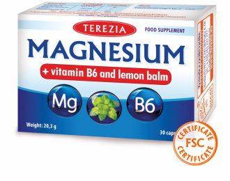 Magnezij iz morskih alg z vitaminom B6 in izvlečkom melise